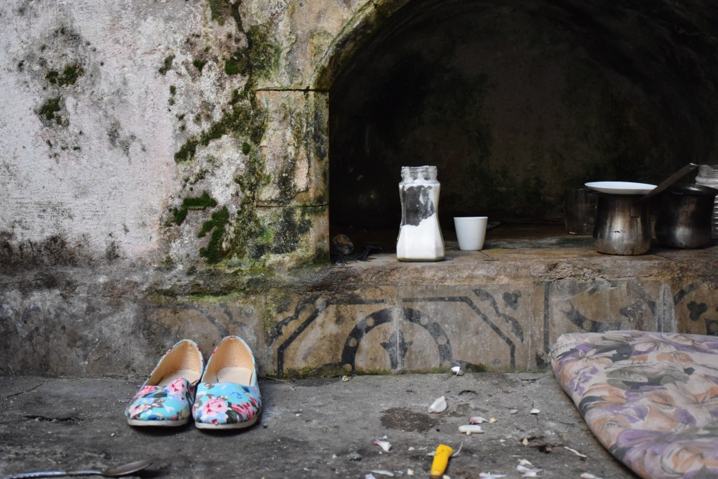 Tripoli, Lebanon, old houses, corner, kitchen, courtyard, old shoes