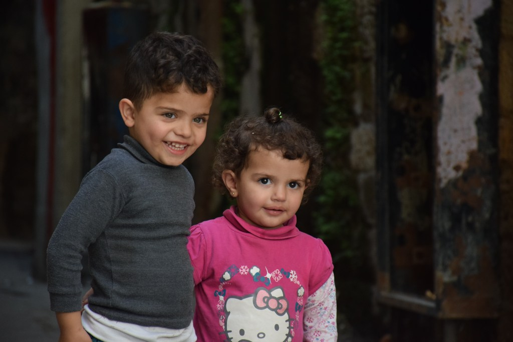 Tripoli, Lebanon, children faces, happy faces, human connections, hospitality