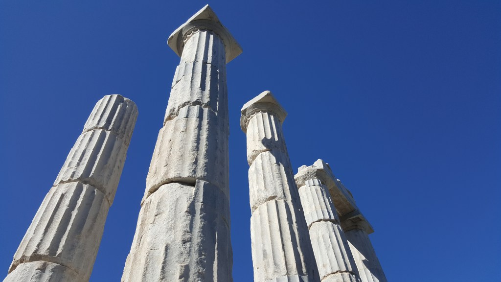 Samothrace, Samothraki, Sanctuary of the Great Gods, columns, archaeology