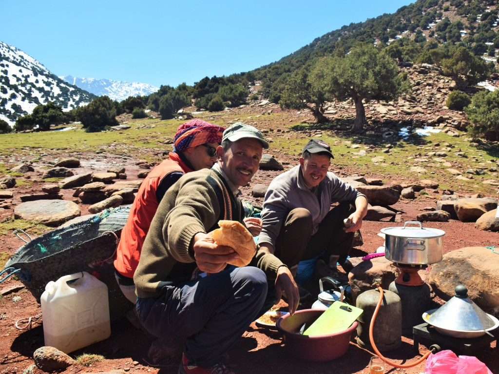 Atlas mountains, Morocco, picnic lunch, bread