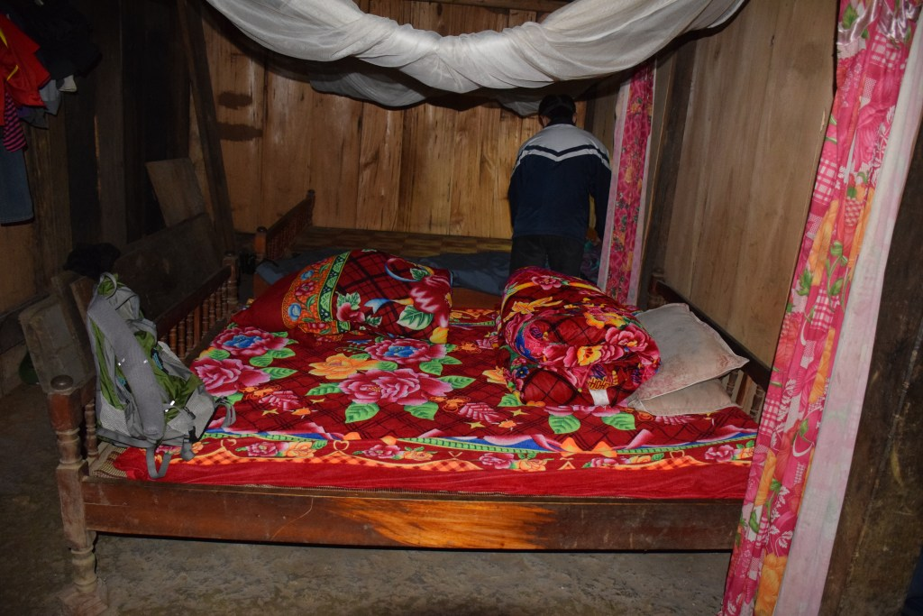 Sapa, village, accommodation, bed, homestay, hut, mattress