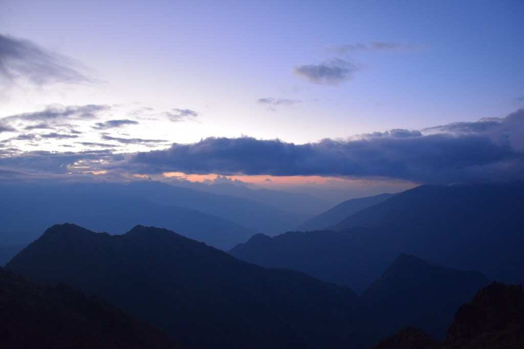 Inca trail, Peru, sunset, mountains