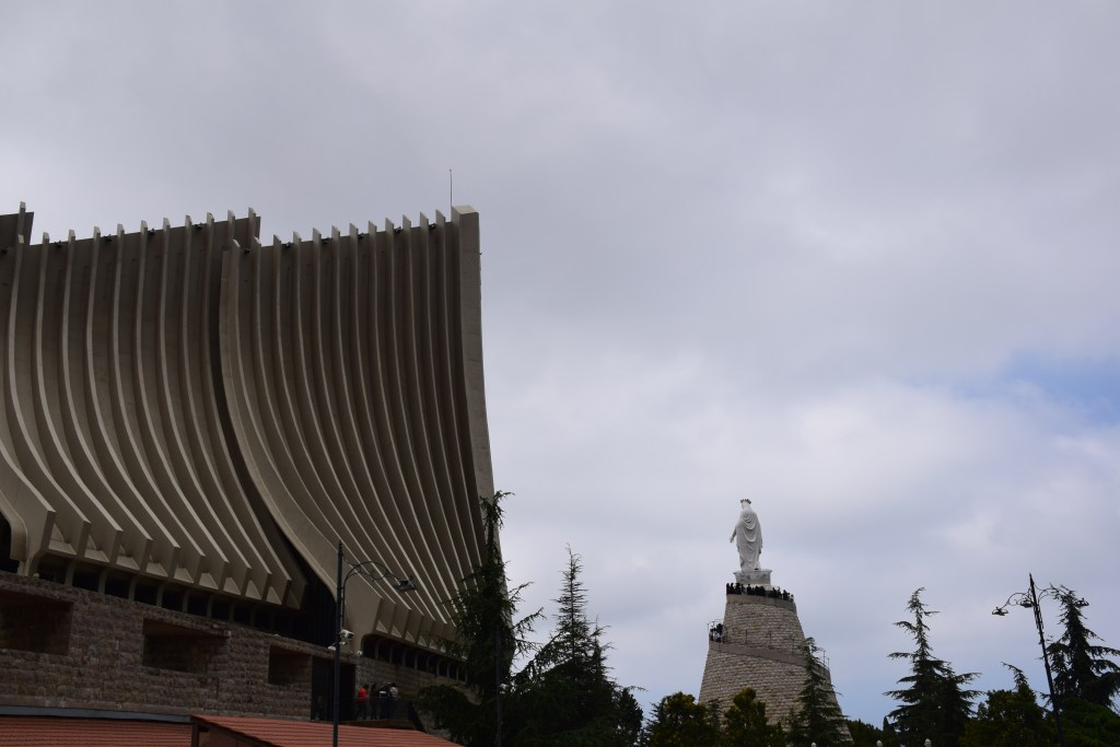 Our Lady of Lebanon, Shrine, statue, Lebanon, Harissa, Jounieh