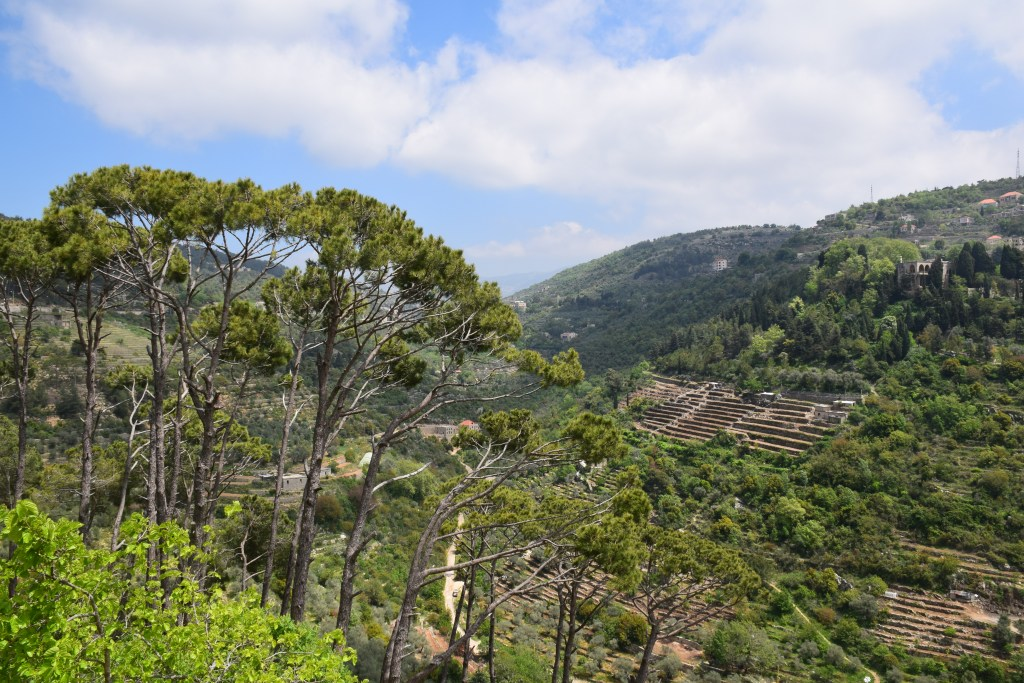Chouf, valley, Lebanon, panoramic