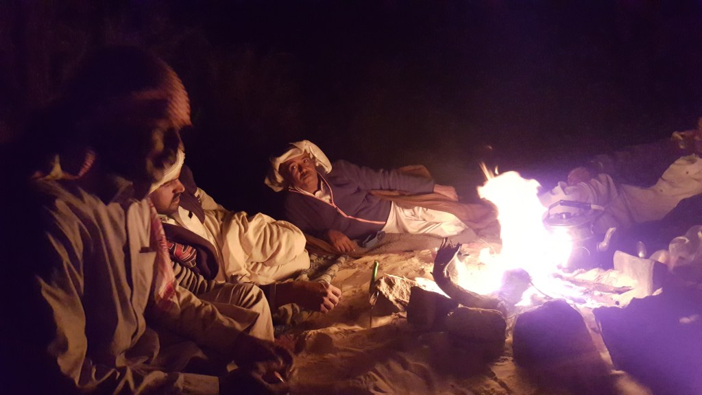 Bedouins, campfire, camping, dinner, Egypt, sinai trail, hiking