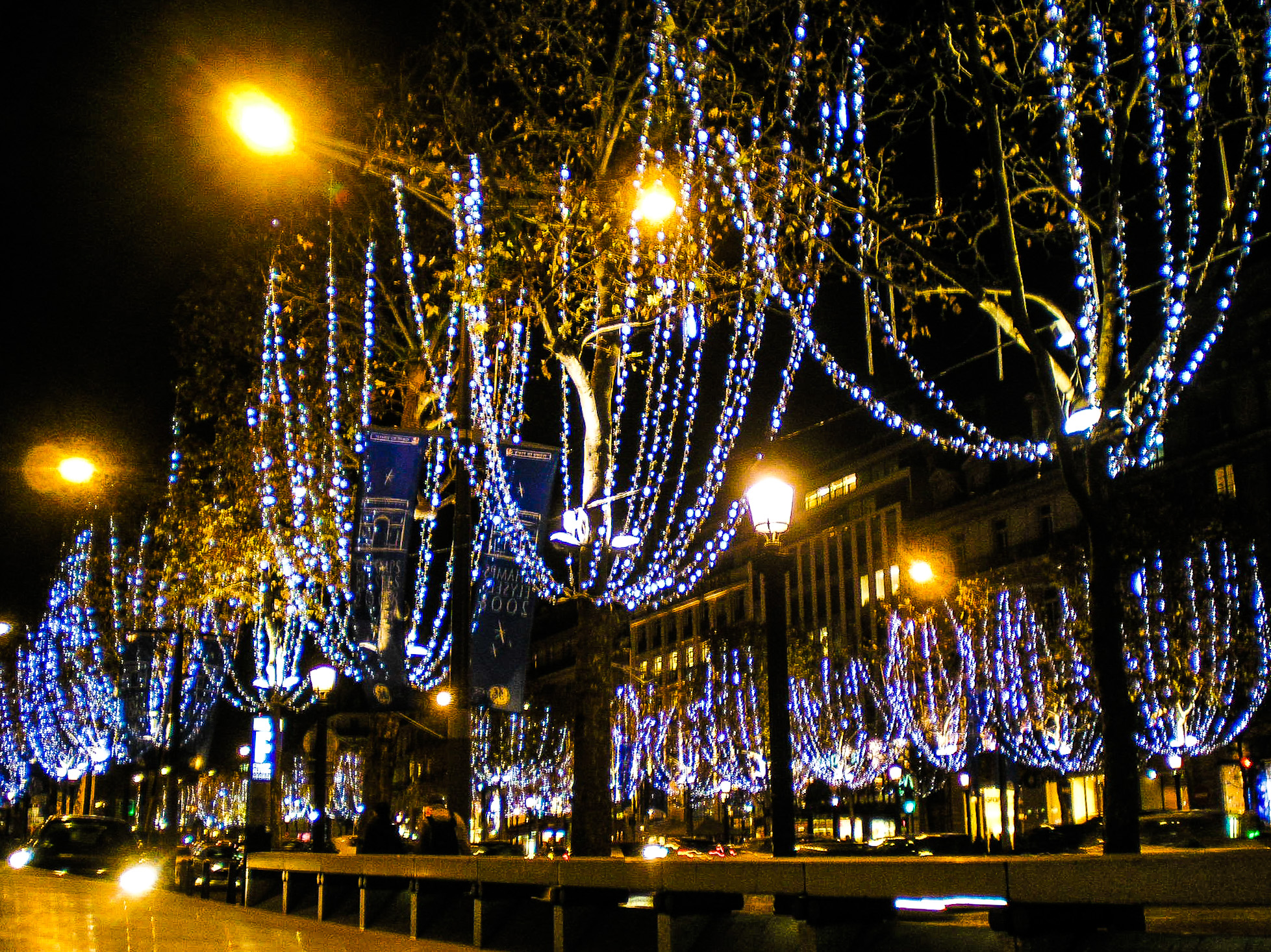 France, Paris, lights, night