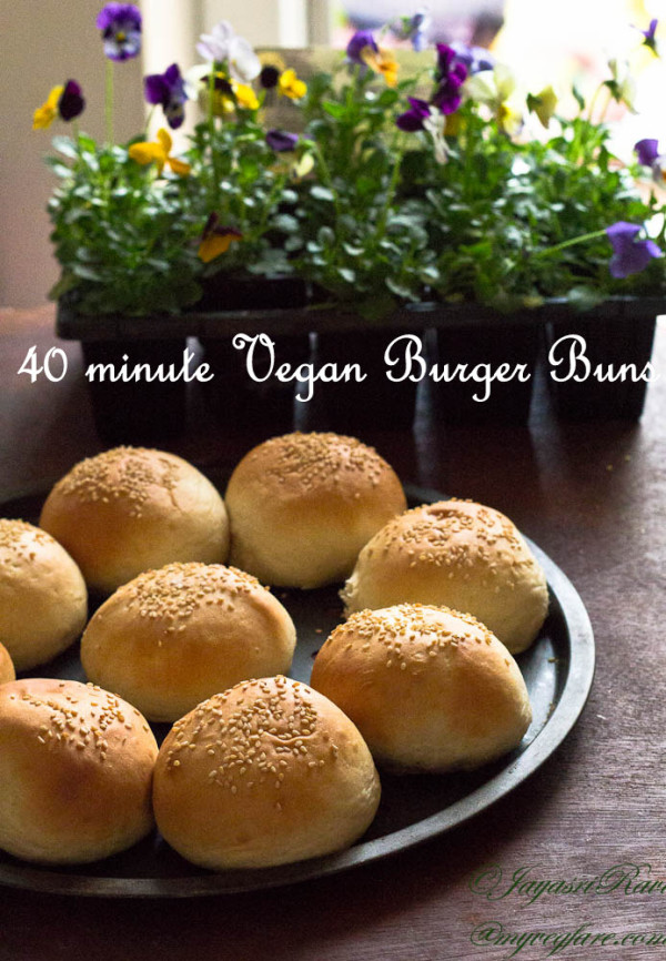 40 minute Vegan Burger Bun