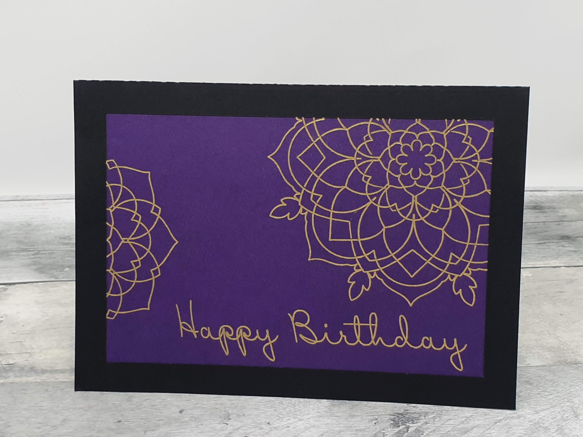 Foil Birthday Card