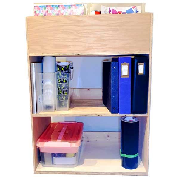 DIY Vinyl Storage Cart