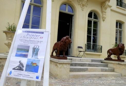 Trio d'artistes au Château Chanorier à Croissy