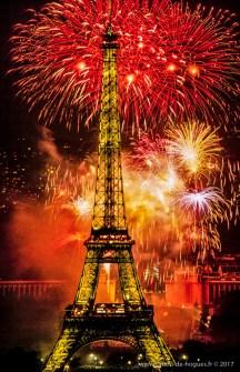 Feu D'Artifice Du 14 Juillet A Paris, France
