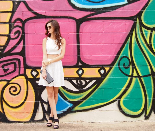 MYVIEWINHEELS 2 PC WHITE OUTFIT