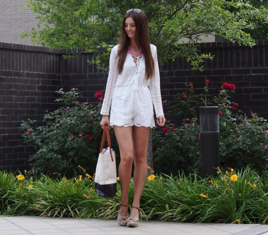 white lace romper myviewinheels