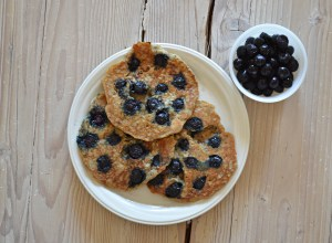 Grain-free Blueberry Pancakes