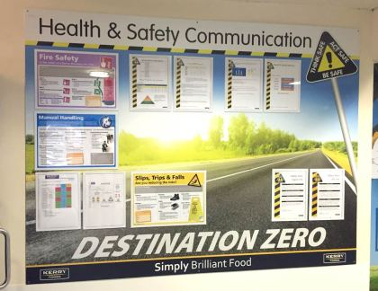 Health & Safety magnetic board with document holders