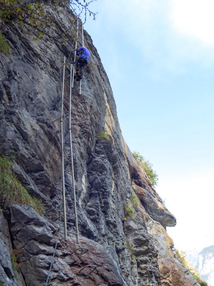 ladders | Via Ferrata Murren to Gimmelwald, Switzerland: One Insane Alpine Adventure!