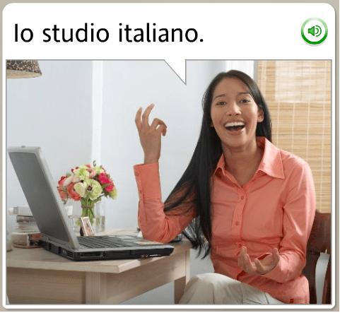The funniest Rosetta Stone stock images: Italian, i study italian