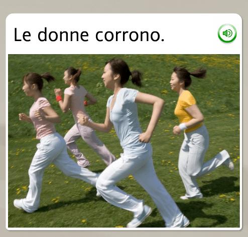 The funniest Rosetta Stone stock images: Italian, the women run