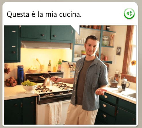 The funniest Rosetta Stone stock images: Italian, this is my kitchen