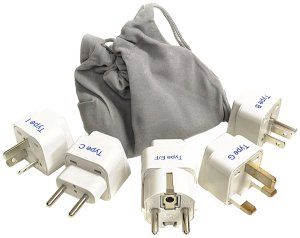 Foreign electrical adapters are a must have for traveling. Don't forget to bring these!