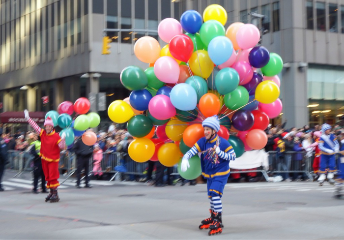 Do This, Not That // Macy's Thanksgiving Day Parade   Clowns with balloons at the Macy's Thanksgiving Day Parade in New York City