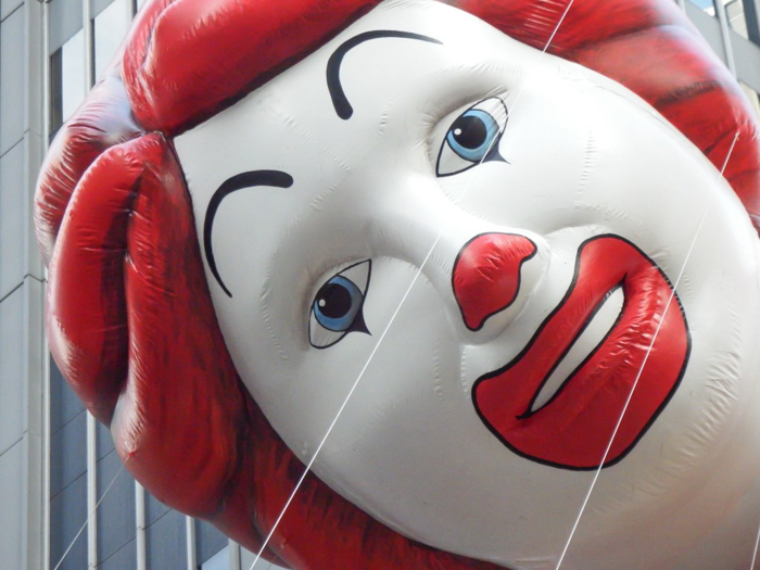 Do This, Not That // Macy's Thanksgiving Day Parade   Ronald McDonald balloon at the Macy's Thanksgiving Day Parade in New York City