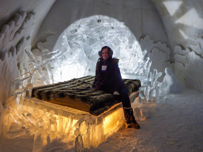 Hôtel de Glace // Straight Chillin' at Québec City's Ice Hotel | Québec City's ice hotel | ice bed | The Beaver Dam suite