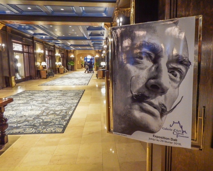 Château Frontenac & the Weekend of Spoils | Dali exhibit at Château Frontenac in Québec City
