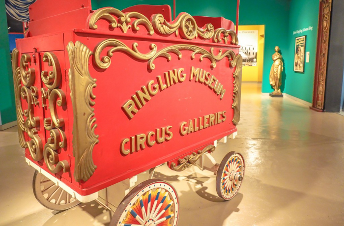 How creepy is the Ringling Brothers Circus Museum   Sarasota, Florida   Barnum and Bailey Circus   Greatest Show on Earth   The Greatest Showman   Circus history   Clowns   circus cart