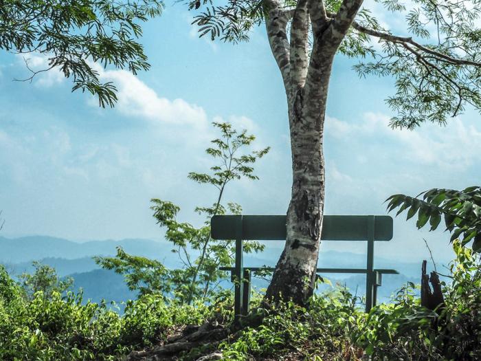 Black Rock Lodge | Belize | The bench at the mountain summit at Black Rock Lodge in San Ignacio, Belize