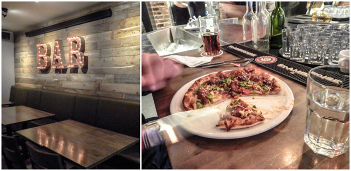 Pizza and beer at Sapristi | Sapristi | The Best Spots to Eat + Drink in Québec City | Canada