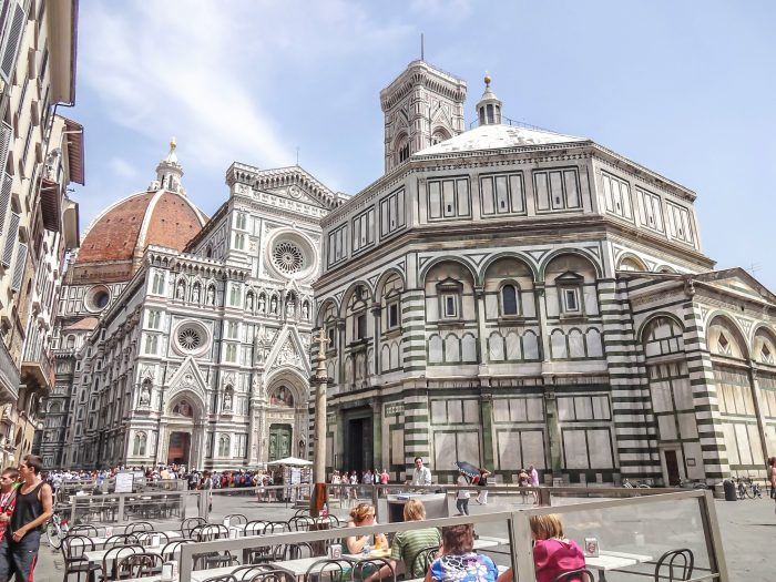 Visiting the Baptistery in Piazza del Duomo during 2 days in Florence, Italy