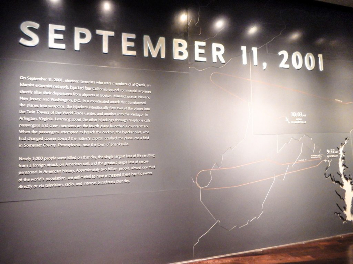 Visiting the National September 11 Memorial and Museum in downtown Manhattan, New York City - 9/11/2001