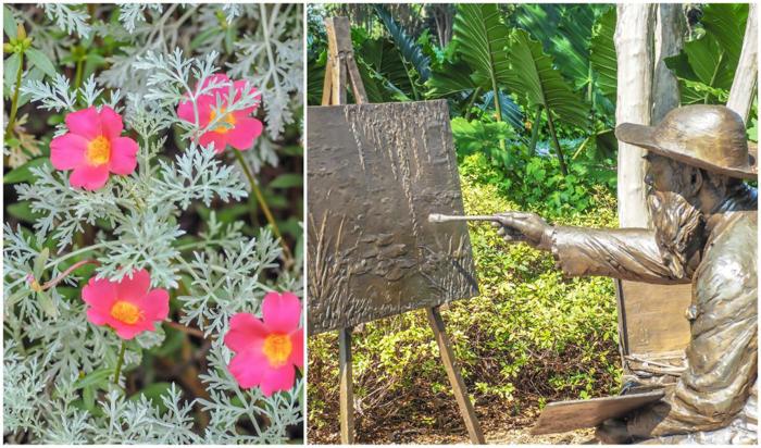 Claude Monet sculpture at the Dallas Arboretum and Botanical Garden in Dallas, Texas // Dallas CityPASS