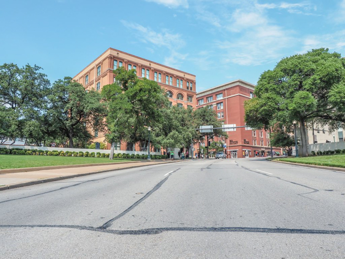 Dealey Plaza and the Sixth Floor Museum in Dallas, Texas // The site of the JFK assassination