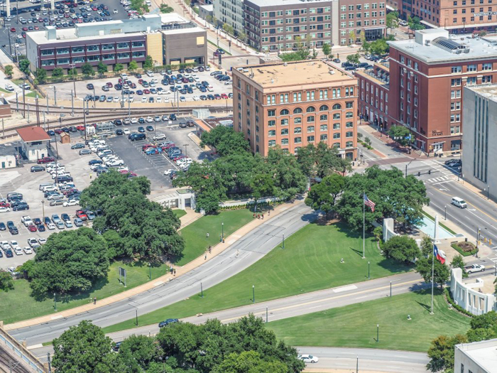 View of Dealey Plaza from Reunion Tower in Dallas, Texas // Dallas CityPASS