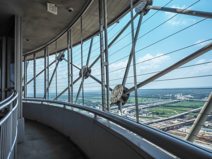 Outdoor observation deck at Reunion Tower in Dallas, Texas // Dallas CityPASS