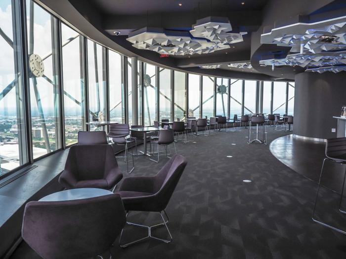 Revolving café inside Reunion Tower in Dallas, Texas // Dallas CityPASS