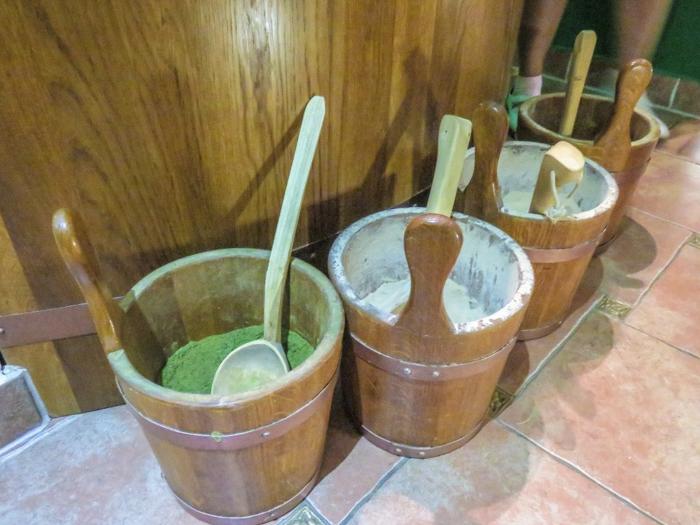 Ingredients used in the tub at the Prague beer spa