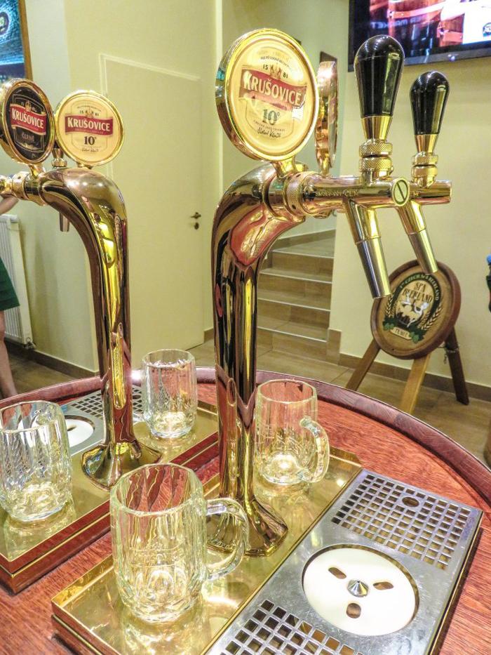 Lobby of the Prague beer spa we visited