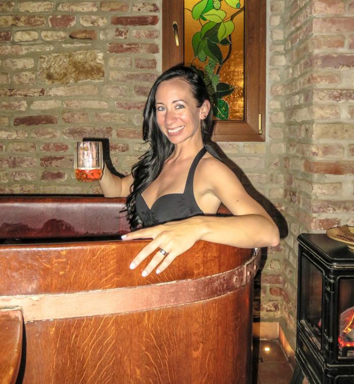 Enjoying a visit to the Prague beer spa--Pivni Lazne Spa Beerland