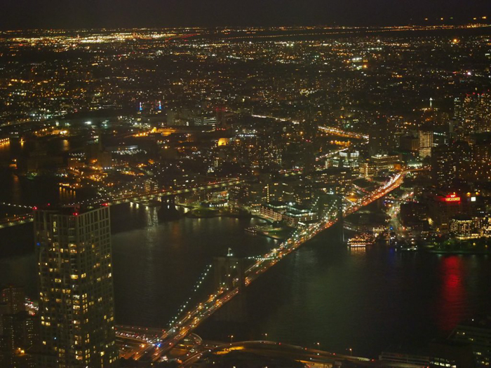 Is One World Trade Center's One World Observatory the best observation deck in New York City? (Brooklyn Bridge at night)