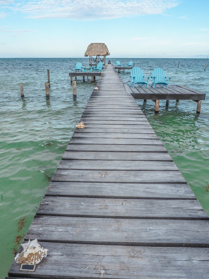 3 days in caye caulker, belize // pier, colinda cabanas