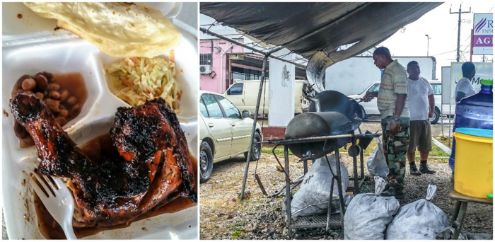 17 things that shocked me in Belize // Belize City airport BBQ chicken