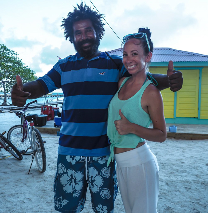 Snorkeling in Belize with Caveman Snorkeling Tours in Caye Caulker