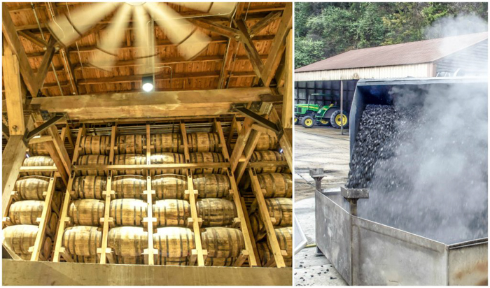Jack Daniel's Distillery tour in Lynchburg, Tennessee | Tennessee Whiskey | perfect day trip from Nashville | Southern lunch at Miss Mary Bobo's Boarding House | Jack Daniel's Honey | Jack Daniel's Fire | Gentlemen Jack | Jack Daniel's Single Barrel Select | Old no. 7 | barrels and charcoal making