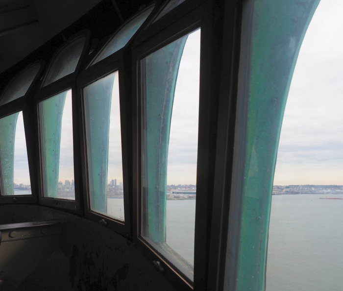 Visiting the Statue of Liberty, New York City // windows in the crown