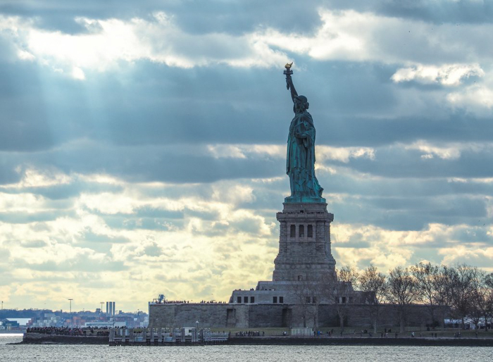 Visiting the Statue of Liberty, New York City // seen from the ferry