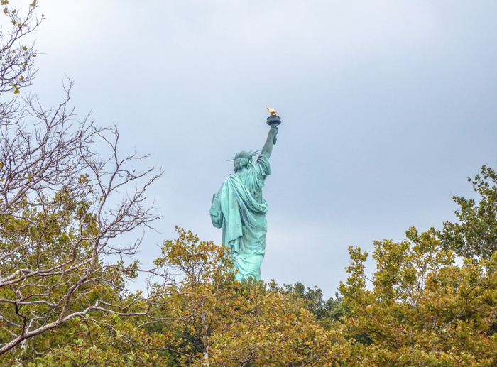 Visiting the Statue of Liberty, New York City // from behind