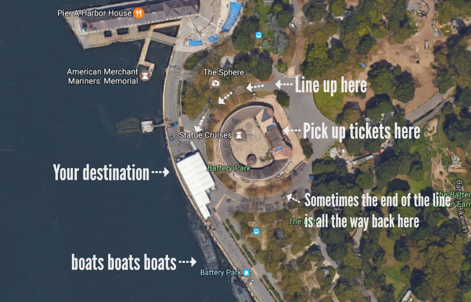Do This, Not That // Tips for Visiting the Statue of Liberty // Map